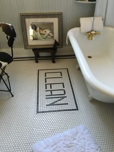 Adding a custom word to your home is a fantastic idea. In the bathroom, in the foyer, in the kitchen.  Anywhere it will make you smile.