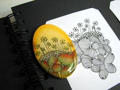 Combinación de zentangle y arcilla polimérica by fperezajates, via Flickr