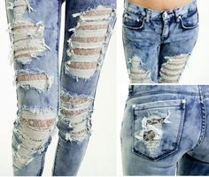 D.I.Y Ripped jeans !!!!! for that Hollister look !!!!! Be appreciative of this look ! its for one of a kind you