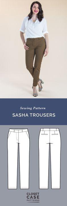 Sasha Trousers Pattern // Our ultimate pants pattern! // Closet Case Patterns https://store.closetcasepatterns.com/products/sasha-trousers-pattern
