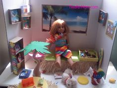 DIY: American Girl Beach Party Craft (not mine - but you knew that) - Twin Mom   Raising Girls   Twin Advice   Reviews - Twofer Mom