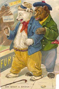 "Tuck's postcard, series no. 118, ""Little Bears"", ca. 1908"