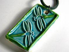 Dragonflies (Clay Tile Pendant)