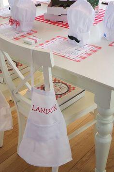 Pizza Chef themed birthday party with Lots of Fun Ideas via Kara's Party Ideas