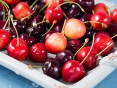 Cherries on a tray by Life Morning Photography on @creativemarket
