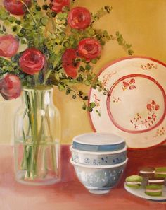 'Still Life With Macaroons' by Janet Hill
