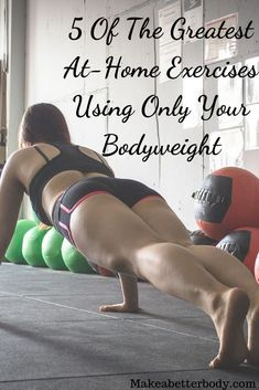 Best bodyweight exercises for men and for women interested in fat burning, losing weight and strength training, easy to include in beginner or advanced workout routines at home or the gym and fitness regimens to build muscle and shape the body for a lean Home Strength Training, Strength Training For Beginners, Workout For Beginners, Training Plan, Bodyweight Strength Training, Hiit, Beginner Bodyweight Workout, Workout Plans, Cardio