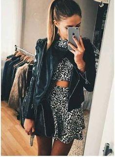 #outfitiftheday #dressy #ootd #twopiecedressset #skirt #ootd #crop #tumblroutfit #cropped #instaglam #girlystyle #blackskirt #girly #leatherjacket #fashiondiaries #ladies #jacket #tumblrgirl #fashionaddict #instamode #coat #shirt #lookoftheday #woman #trendy #matchingset #mylook #skaterskirt #outfit #croptops #instalook #style #outfitidea #women #miniskirt #instalooks http://goo.gl/cKoxgI