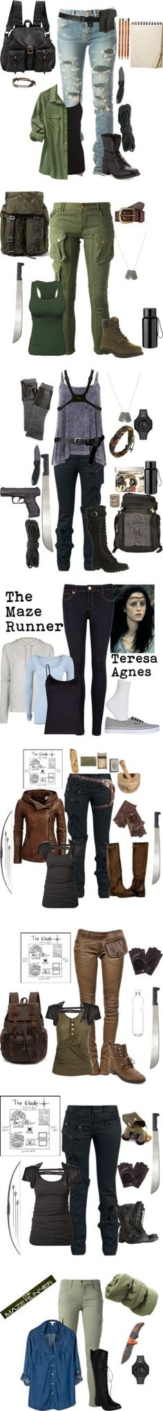 maze runner outfits by gone-girl on Polyvore featuring Yves Saint Laurent, Warehouse, Old Navy, Kershaw, Jas M.B., American Eagle Outfitters, Modern Vintage, Dolce&Gabbana, CYCLE and Liebeskind