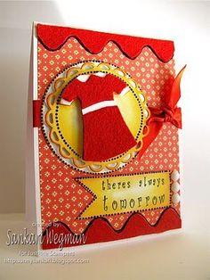 Cute homemade Annie card: