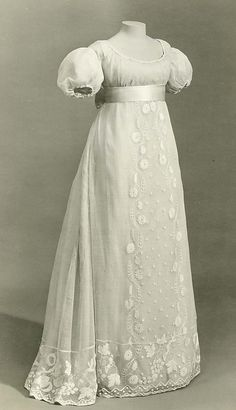 1810 cotton and linen dress.