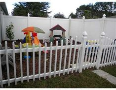 Fenced play areas