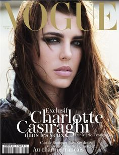 Princess Charlotte Casiraghi of Monaco in Vogue Paris . The grand daughter of Grace Kelly shows off her fabulous genes on the. Vogue Magazine Covers, Fashion Magazine Cover, Fashion Cover, Vogue Covers, Mario Testino, Charlotte Casiraghi, Vogue Paris, Kate Middleton, Anja Rubik