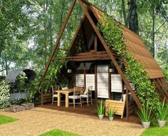 cute small house designs with gable roofs and triangular a frames