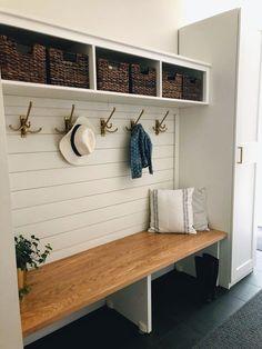 Mudroom Cubbies, Mudroom Cabinets, Mudroom Laundry Room, Bench Mudroom, Closet Mudroom, Mud Room Garage, Tv Cabinets, Armoire Entree, Small Mudroom Ideas