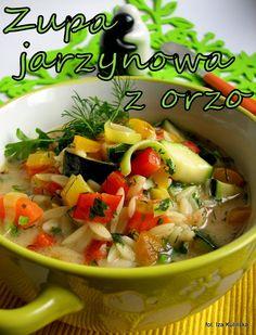 Smaczna Pyza: Zupa jarzynowa z orzo - http://smacznapyza.blogspot.com/2013/03/zupa-jarzynowa-z-orzo.html