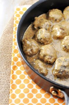 "Classic Swedish Meatballs -""This was just delicious! I highly recommend this recipe. I double the sauce. We had it with egg noodles and it was perfect."""