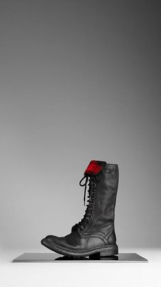 Sigh, why is THE perfect boot, a Burberry? |  Burberry - Check Lined Leather Boots