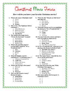 christmas trivia | Printable Christmas Trivia Pictures