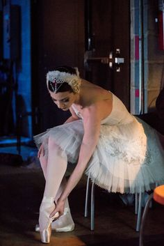 Pennsylvania Ballet Principal Dancer Lily DiPiazza prepares to take the stage in the grueling duel role of Odette/Odile - Photo by Arian Molina Soca
