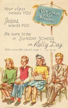 Sunday school miss you card
