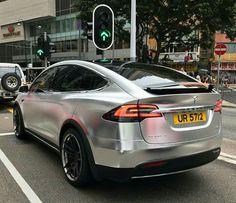 Tesla x in black chrome