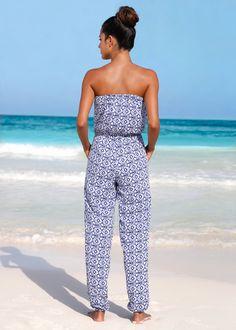 Jumpsuit, bpc selection, grijs/wit