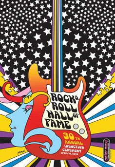 Peter Max. 30 annual rock hall of fame.