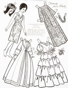 Vintage Paper Doll - Last Queen of Hawaii - Children's Friend - Friends from Books 1966 - Lorie Harding - Picasa Web Albums