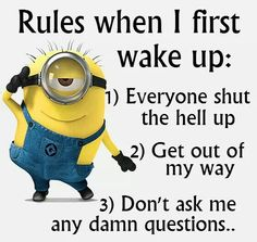 Minion quotes are hilarious. These are the 21 best funny minions quotes of the day that will make you laugh. Minion Humour, Funny Minion Memes, Minions Quotes, Funny Jokes, Minion Sayings, Minion Love Quotes, Funniest Memes, Image Minions, Minions Images