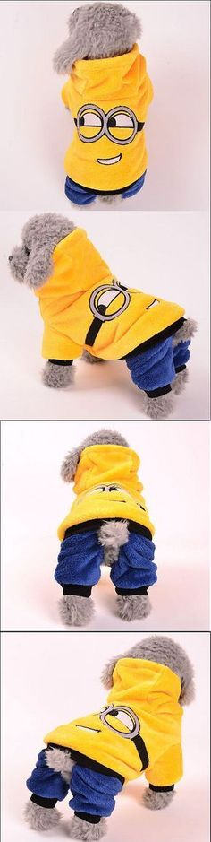 Winter Warm Coat Hoodie For Pet Dog Cute Minion... - Exclusively on #priceabate #priceabateAnimalsDog! BUY IT NOW ONLY $11.99 - http://amzn.to/2h50xSk