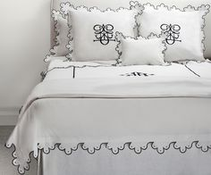 Italian Hotel Embroidered Bedding Monograms Initials