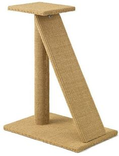 The Vertical Cat& Scratching Posts - Contemporary Cat Furniture, Trees, Shelves and Stairs Contemporary Cat Furniture, Post Contemporary, Cat House Diy, Wood Cat, Cat Towers, Cat Scratching Post, Hamster, Cat Scratcher, Cat Room