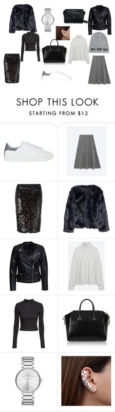 Untitled #31 by theunknownqueenoffashion on Polyvore featuring Zara, H&M, Sisters Point, By Malene Birger, Maje, Givenchy, Marc by Marc Jacobs, Local Heroes and Sandro