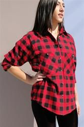 NEW cute Plaid Flannel Shirt, find in store at Dreamgirls and www.shopdreamgirls.com