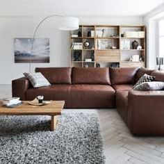 Leather sectional...? Hmmm