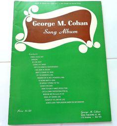 Sheet Music George M. Cohan Song Album Vintage by aLoveOfVintage on Etsy George M Cohan, Old Names, Boogie Woogie, Album Songs, Make It Simple, Sheet Music, Writing, Easy, Vintage