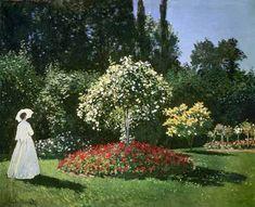 Titulo de la imágen Claude Monet - Dama en el Jardín
