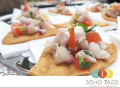 Red Snapper Ceviche as served at a wedding at the Red Tail Ranch Estate in Ojai CA.  #tacocatering #appetizers #redsnapper