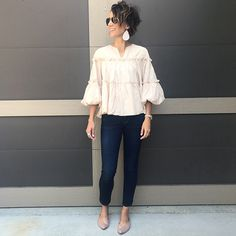 Fussy sleeves have totally been a thing this year. These sleeves have a whole lot of character without getting in the way. They are just right, and every time I wear this top I get compliments.
