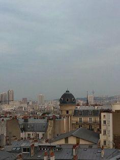 """""""Paris, rooftop views"""",pinned by Ton van der Veer"""