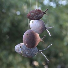 Rustic Spoon Fish Wind Chimes by nevastarr on Etsy