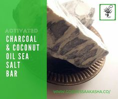 Activated charcoal and sea salt bar!