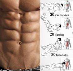 No-Equipment Ab Exercises - Body Sixpack Workout Plan Best Abs - Yeah We Train ! Fitness Workouts, Fitness Motivation, Gym Workout Tips, Abs Workout Routines, Fun Workouts, At Home Workouts, Fitness Tips, Workout Plans, Training Workouts