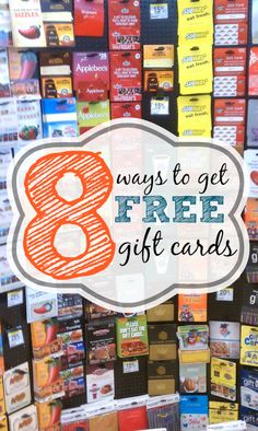 8 Ways to Get Free or Discounted Gift Cards - You don't need to pay full price for gift cards! Try these tips instead!