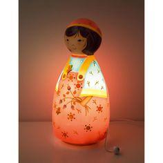 1026a5b70a318 Lampe veilleuse musicale Fille aux fleurs