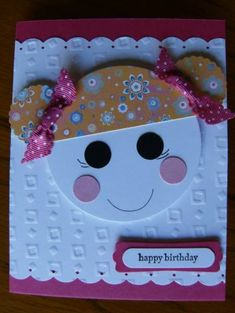 Happy Birthday Hope by humdinger - Cards and Paper Crafts at Splitcoaststampers Girl Birthday Cards, Bday Cards, Handmade Birthday Cards, Birthday Greeting Cards, Greeting Cards Handmade, Sister Birthday, Birthday Images, Birthday Quotes, Birthday Greetings