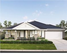 The Fortitude captures perfectly the current trend towards larger single-storey homes for big families! Browse our luxury home designs by Metricon. Building Design, Building A House, Two Storey House Plans, Large Floor Plans, Hamptons Style Homes, Facade House, House Facades, Storey Homes, House Paint Exterior