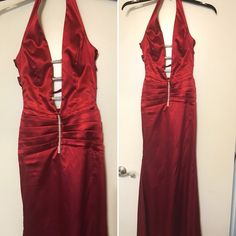 PROM DRESS Red silk prom dress. Bought in LA for $250. Worn once. Great condition! Dresses Prom
