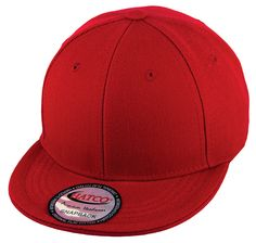 Blank Acrylic Snapback Cap - Kids - Red